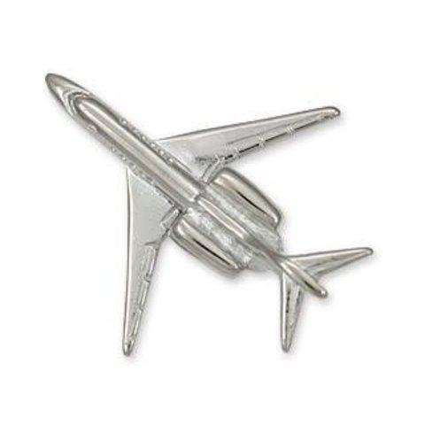 Pin Citation X (3-D cast) Silver Plate