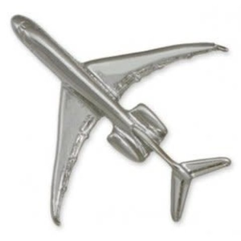 Pin Global Express (3-D cast) Silver Plate
