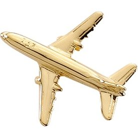 Johnson's Pin Boeing B737 (3-D cast) Gold Plate