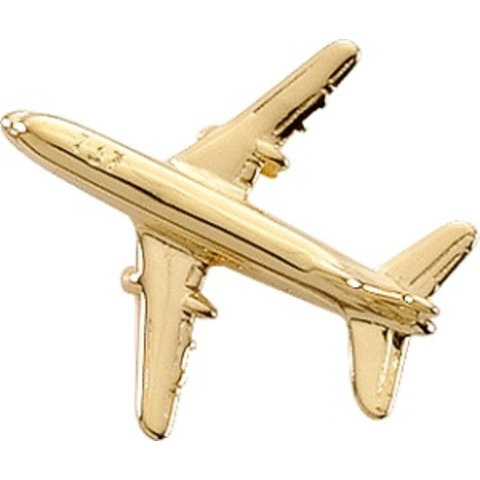 Pin Boeing B737 (3-D cast) Gold Plate