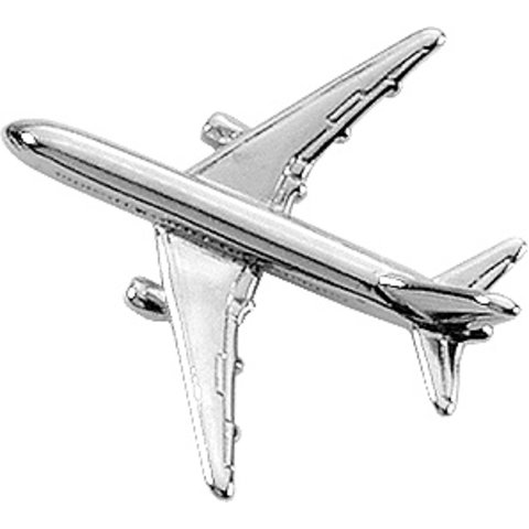 Pin Boeing B767 (3-D cast) Silver Plate
