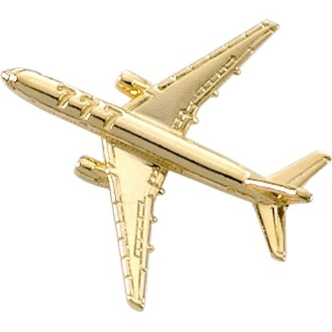 Pin Boeing B777 (3-D cast) Gold Plate