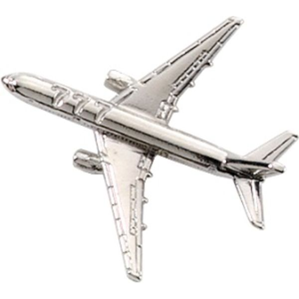 Pin Boeing B777 (3-D cast) Silver Plate