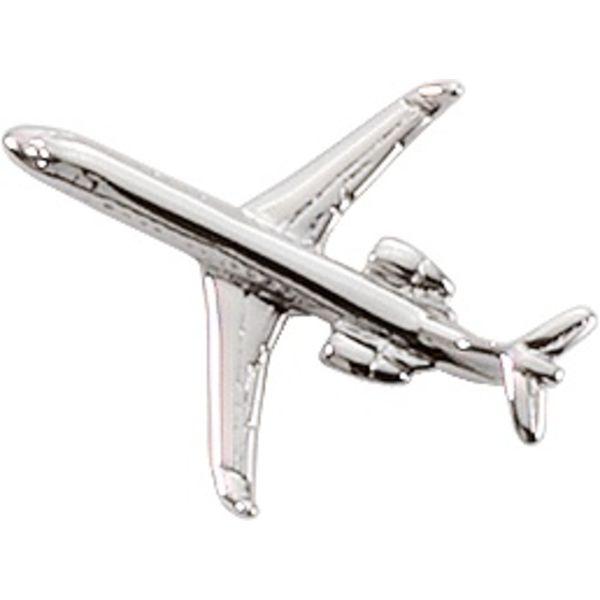 Pin CRJ-200 (3-D cast) Silver Plate