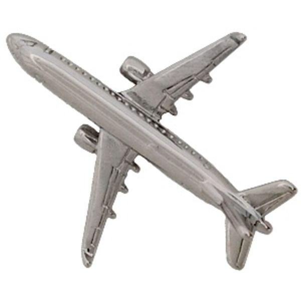 Pin Embraer ERJ175 (3-D cast) Silver Plate