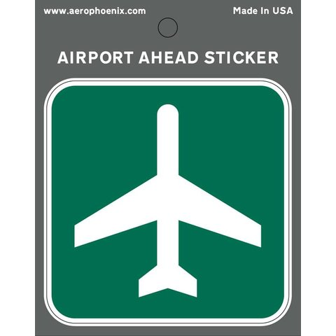 Sticker Airport Ahead