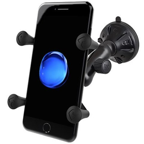 Composite Twist-Lock™ Suction Cup Mount with Universal X-Grip® Cell Phone Cradle