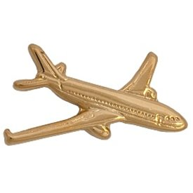 Johnson's Pin Airbus A320 Gold Plate