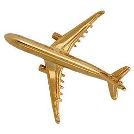 Pin Airbus A330 (3-D cast) Gold Plate