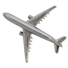 Johnson's Pin Airbus A330 (3-D cast) Silver Plate