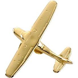 Johnson's Pin Cessna 172 (3-D cast) Gold Plate
