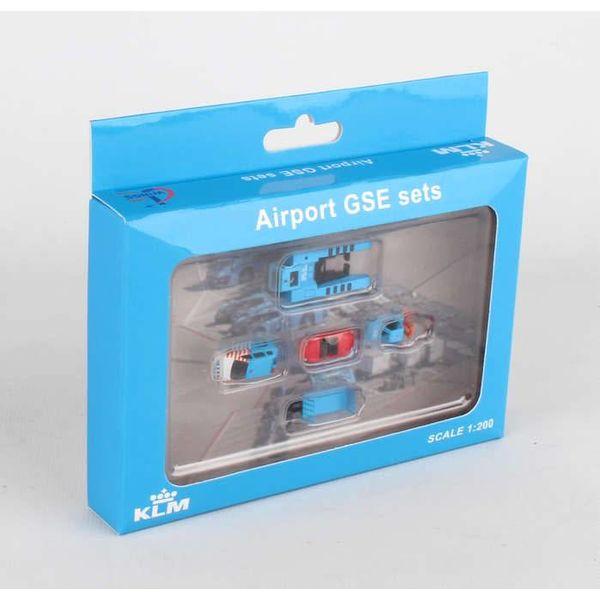 JC Wings GSE KLM Set #1: Mover,Forklift,Car,Ops vehicle,cart 1:200++SALE++