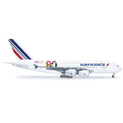 A380 Air France 80th Anniversary F-HPJI 1:200 with stand (plastic)