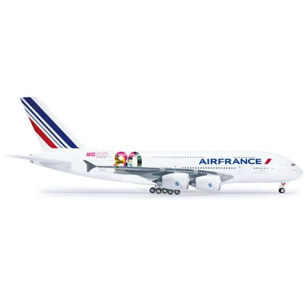 Herpa A380 Air France 80th Anniversary F-HPJI 1:200 with stand (plastic)