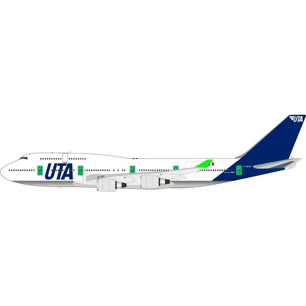 InFlight B747-400 UTA F-GEXA 1:200 with Stand