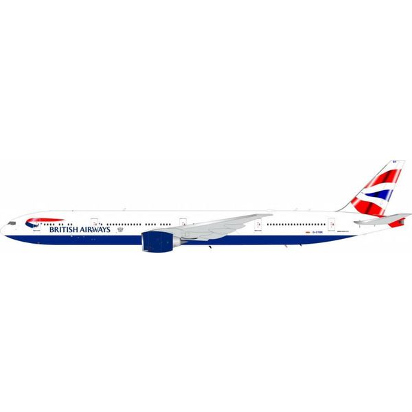 JFOX B777-300ER British Airways Union G-STBK 1:200 with stand