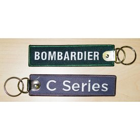 Bombardier Key Chain Bombardier C series Grey