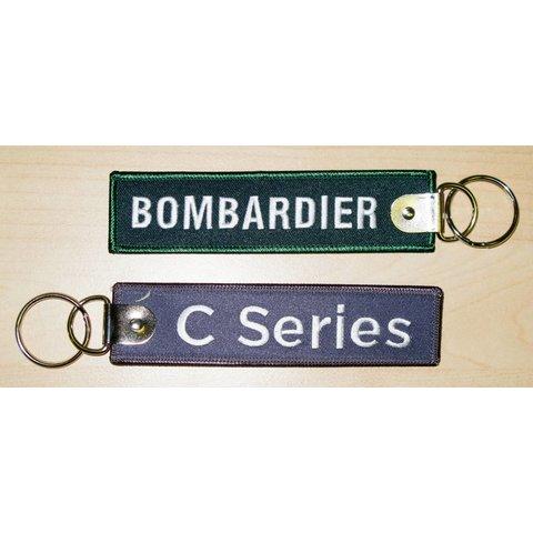 Key Chain Bombardier C series Grey