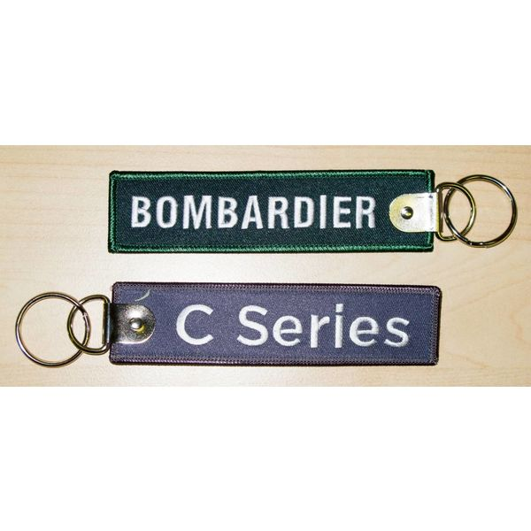 Bombardier Key Chain C series Grey Bombardier