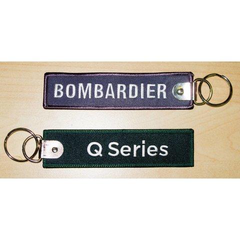 Key Chain Bombardier Q series Black