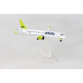 Herpa CS300 Air Baltic YL-CSA CSeries 1:400 with stand