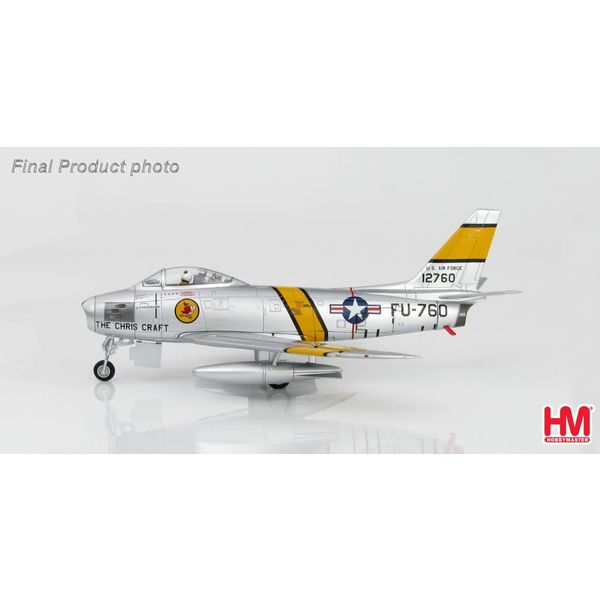 Hobby Master F86E Sabre 4th FW USAF FU-760 Cleveland 1:72 with stand (unsigned)**o/p**