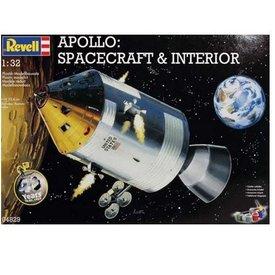 Revell REVELL GERMANY APOLLO SPACECRAFT & INTERIOR 1:32