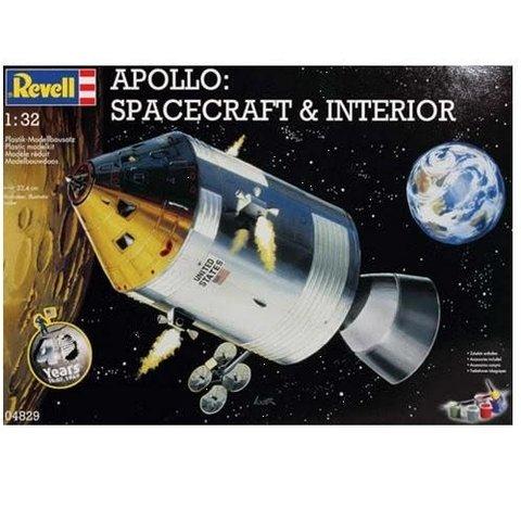 REVELL GERMANY APOLLO SPACECRAFT & INTERIOR 1:32