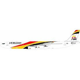 InFlight A340-300 Air Belgium OO-ABA 1:200 with stand