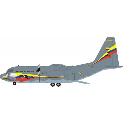 C130H Hercules Columbia Air Force FAC1004 1:200 with Stand