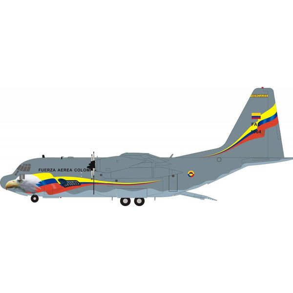 InFlight C130H Hercules Columbia Air Force FAC1004 1:200 with Stand