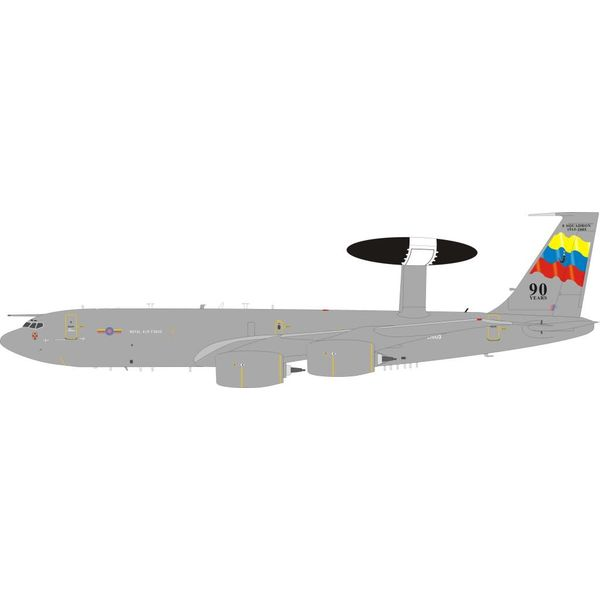 InFlight E3D Sentry AEW1 8 Squadron RAF Royal Air Force ZH103 90 Years 1:200 with stand
