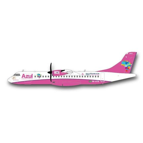 ATR72-600 Azul Air Pink Livery 1:200 with stand++SALE++