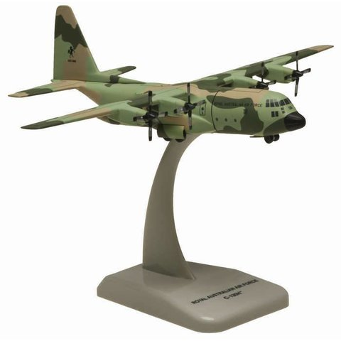C130H Hercules RAAF Royal Australian Air Force A97-006 camo 1:200 with stand