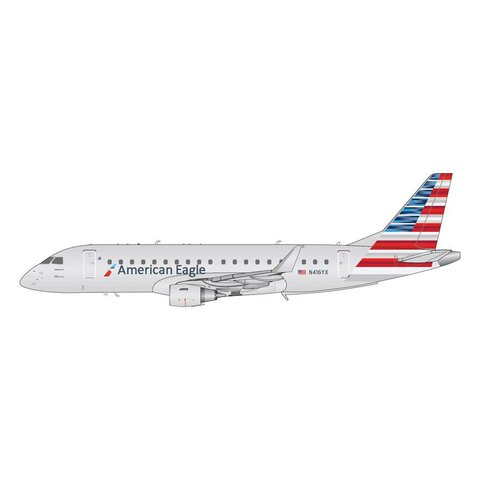 ERJ175 American Eagle Republic 2013 livery N416YX 1:200 with stand