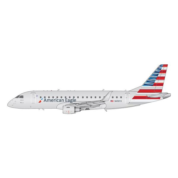 Gemini Jets ERJ175 American Eagle Republic 2013 livery N416YX 1:200 with stand