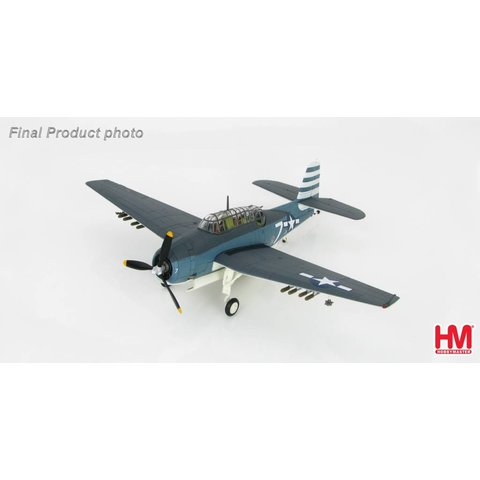 TBM3 Avenger VT12 WHITE 7 Task Force 86 1:72 with stand**o/p**