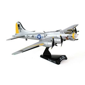 Postage Stamp Models B17G Flying Fortress USAAF Liberty Belle J Silver Yellow J 1:155 with stand