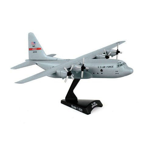 C130H Hercules USAF AMC Dyess AFB grey 42132 1:200 with stand