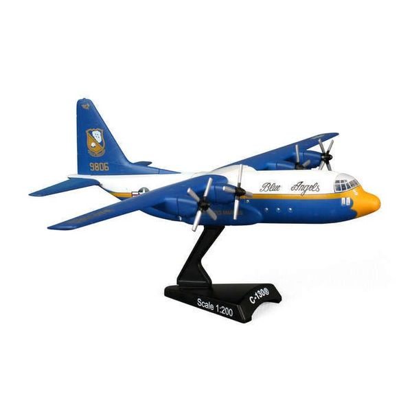Postage Stamp Models C130T Hercules Fat Albert Blue Angels US Navy US Marines 1:200 with stand