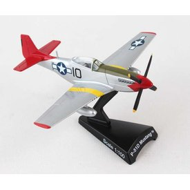 Postage Stamp Models P51D Mustang Tuskegee Airmen Lollipop Red Tail 1:100 with stand