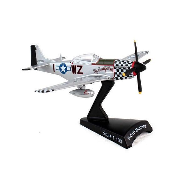 Postage Stamp Models P51D Mustang Big Beautiful Doll I-WZ 1:100 with stand
