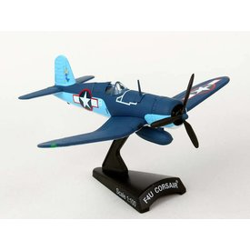 Postage Stamp Models F4U Corsair VMF422 1Lt. Stout US Marines 1:100 with stand