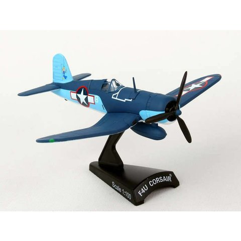 F4U Corsair VMF422 1Lt. Stout US Marines 1:100 with stand