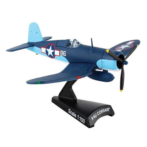 Postage Stamp Models F4U Corsair VMF214 Pappy Boyington US Marine Corps 86 1:100 with stand