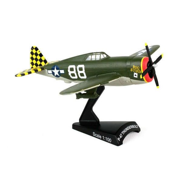 Postage Stamp Models P47 Thunderbolt USAAF Big Stud camouflage 1:100 with stand