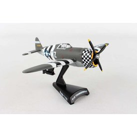 Postage Stamp Models P47 Thunderbolt USAAF SNAFU WZ-D D-Day amouflage 1:100 with stand