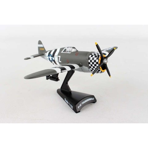 P47 Thunderbolt USAAF SNAFU WZ-D D-Day amouflage 1:100 with stand