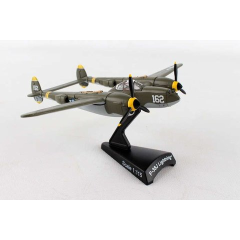 P38J Lightning USAAF 162 23 Skidoo camouflage 1:115 with stand