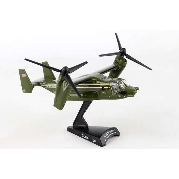 Postage Stamp Models MV22B Osprey HMX1 Marine One Green 1:150 with stand